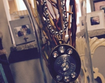 12 Gauge Pendant and ball chain necklace