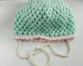 Beanie Infant Hat - Mint