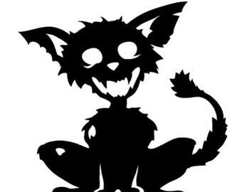 Cat Zombie Vinyl Decal