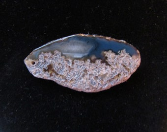 Stone geode slice pendant - top drilled