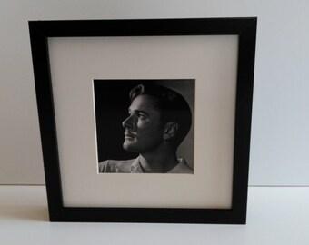 Errol Flynn custom framed and mounted portrait photo print 25cm x 25cm #4