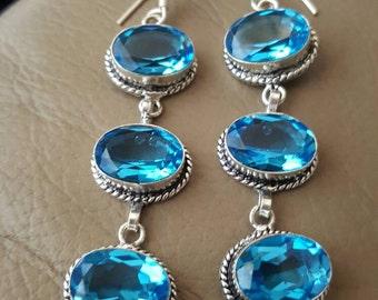 Blue Topaz Earrings!