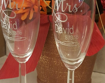 Wedding Champagne Flutes - Reception Champagne Flutes - Reception Flutes - Champagne Flutes - Wedding Flutes -