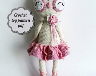 "Crochet pattern amigurumi ""owl Yuki"" pdf"