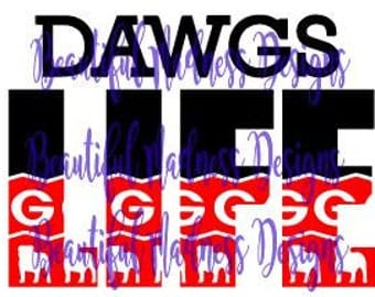 Georgia Dawgs Life SVG