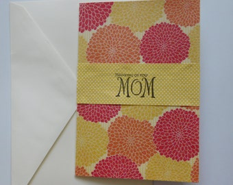 Spring Glitter Mother's Day Card