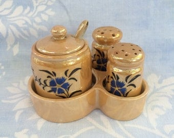 Lusterware Condiment Set