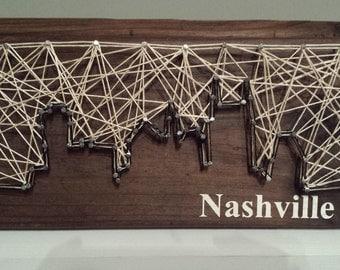 Nashville Skyline String Art