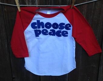 Choose Peace Baseball Tee