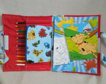 Children's colouring tote bag