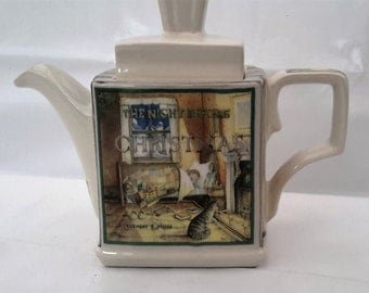 Vintage 'Sadler' Teapot, Christmas Teapot, 'Classic Stories, 'The Night Before Christmas', English Teapot, Collectible, Cabinet Ware
