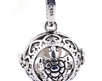Sterling Silver Plated Essential Oil Diffuser Necklace - Turtle