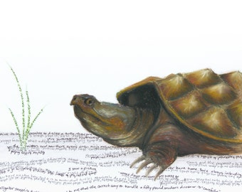 "Snapping Turtle ""Hermitage"" Giclee Print"