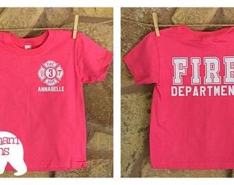 Girl's Toddler/Youth Custom Fire Department Shirt