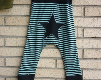 Craftsman striped trousers (finite and cool) with star