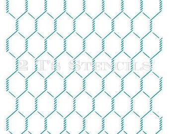Chicken Wire Stencil by 2T's