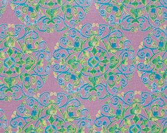 SALE 1 yard - Dena Designs Ikat Circles in Aqua Fabric