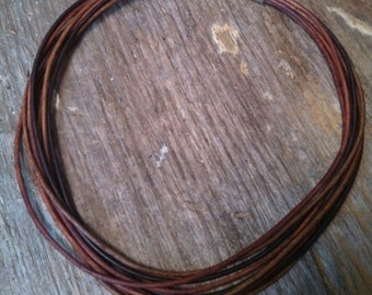 9 Strand Leather Necklace- Various natural distressed colors