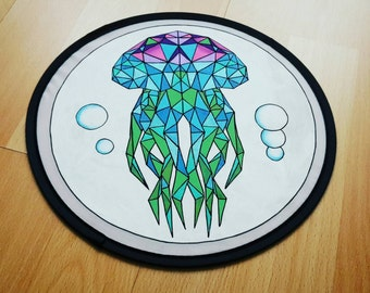 Hand painted Frisbee: Flying Jellyfish