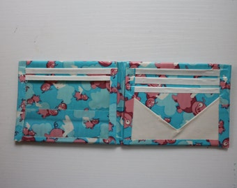 Flying Pigs-White Duct Tape Bifold Wallet