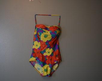 Vintage Floral Bathing Suit