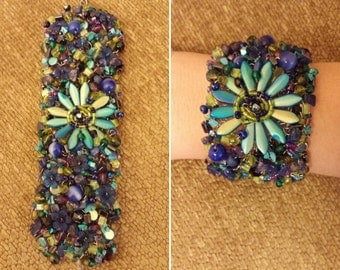 Blue Lotus flower of enlightenment bracelet