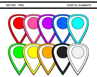 Printable Digital Scrapbook Pin Elements 114A