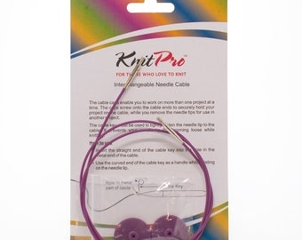 Knit Pro cable, circular knitting, interchangeable tips