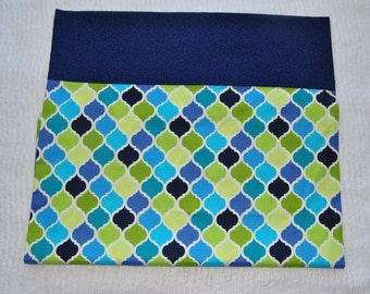 Blue & Green Lattice Pillow Case