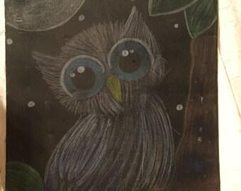 Chalk owl