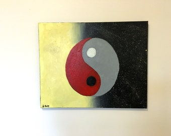Yin Yang Moon and Sun Painting