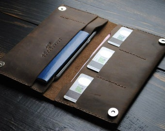 Men's leather wallet. Handmade. leather wallet men. vintage leather wallet