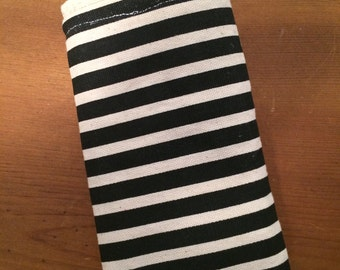 Black and Khaki Striped Eye/Sun Glass Case