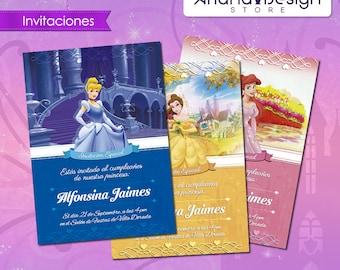 Disney Princess Printable Invitations