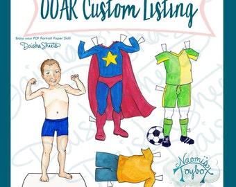 Custom Portrait Paper Dolls {PDF}
