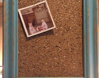 Hand painted framed cork board