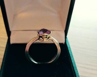Alexandrite crown ring, UK size O