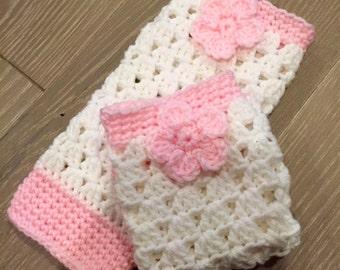 Custom made little girls crochet leg warmers, toddler leg warmers
