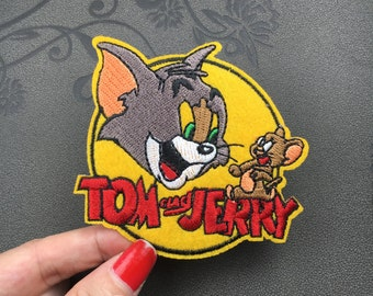 Tom jerry patch embroidered patch embroidery patch decorate iron on patch sew on patch