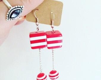 Sweet Replica Stripe Earrings