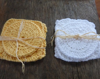 Reusable Crocheted Scrubbing Pads