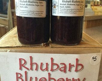 Rhubarb Blueberry Jam (AKA Rhubarb Blueberry Spread or Topping)