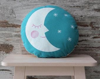 Sun&Moon pillow, silkscreen pillow, screenprinted pillow