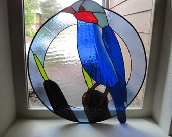 Blue Bird Stained Glass