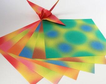 Origami Paper Sheets -Gradation Design 'Dream' - 48 Sheets