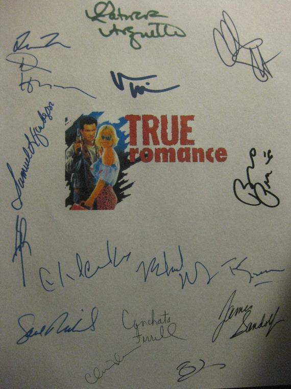 True Romance Signed Movie Film Screenplay Script X16 Brad Pitt Christian Slater Quentin Tarantino Patricia Arquette autographs signature