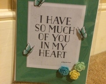 Handmade card with inspirational quote