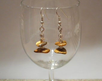 Handmade tigers eye stone earrings