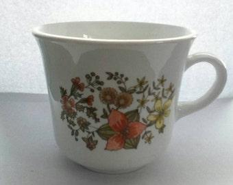 Vintage Correlle flowered tea cup