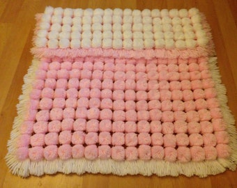 Pom Pom Baby Blanket (made and ready to go)